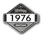 VIntage Edition 1976 Classic Retro Cafe Racer Design External Vinyl Car Motorcyle Sticker 85x70mm